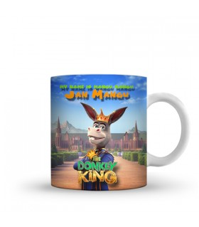 donkey king printed mug
